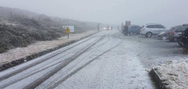 Cidades catarinenses registram neve