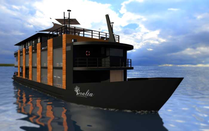 'Barco-hotel' de luxo é lançado no Pantanal